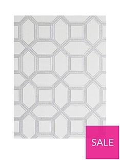 arthouse-luxe-origin-white-and-silver-wallpaper