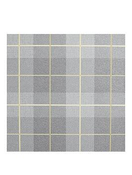 arthouse-heritage-tartan-ochre-grey-vinyl-wallpaper