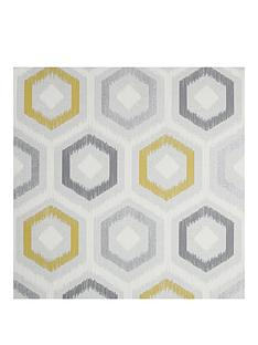 arthouse-ikat-geo-ochre-grey-vinyl-wallpaper