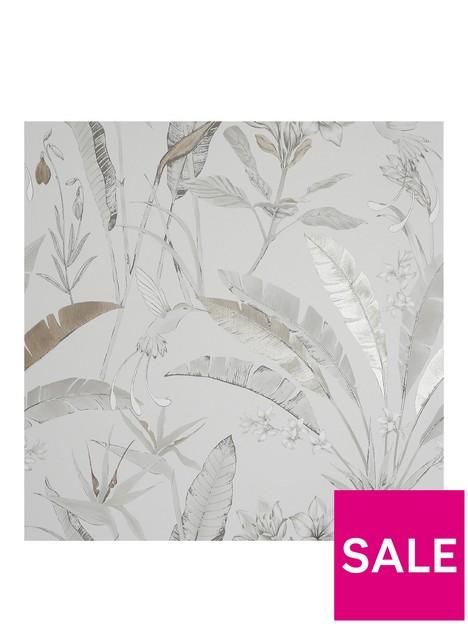 arthouse-floral-jungle-metallic-wallpaper