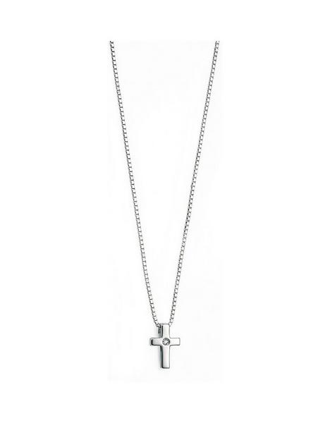 d-for-diamond-d-for-diamond-sterling-silver-childrens-cross-pendant-necklace