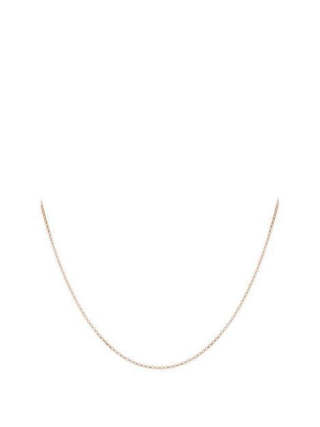 love-gold-9ct-rose-gold-round-belcher-chain-necklace