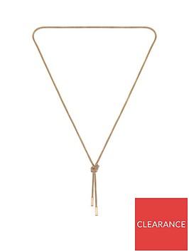 boss-boss-rosette-gold-plated-stainless-steel-mesh-long-knot-necklace