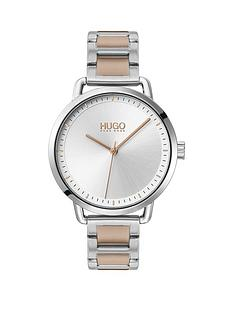 hugo-hugo-mellow-stainless-steel-white-dial-bracelet-watch