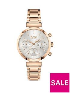 boss-flawless-rose-gold-bracelet-white-dial-watch