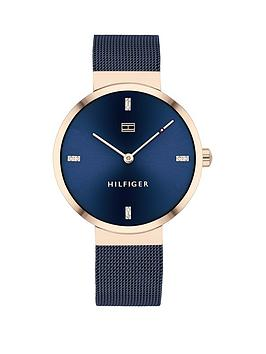 tommy-hilfiger-liberty-navy-stainless-steel-mesh-navy-sunray-dial-ladies-watch