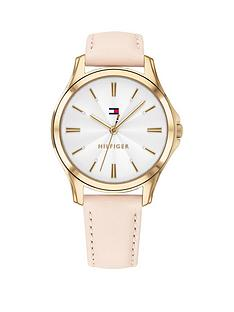 tommy-hilfiger-tommy-hilfiger-lori-pink-leather-strap-white-dial-ladies-watch