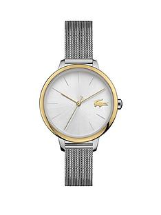 lacoste-lacoste-bi-colour-stainless-steel-mesh-strap-34mm-white-dial-bracelet-watch