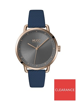 hugo-hugo-mellow-blue-leather-strap-gold-ip-case-grey-dial-ladies-watch