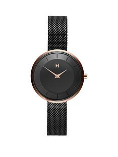 mvmt-mvmt-mod-black-and-gold-detail-28mm-dial-black-stainless-steel-mesh-strap-ladies-watch