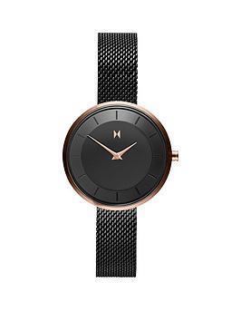 mvmt-mvmt-mod-black-and-gold-detail-28mm-dial-black-stainless-steel-mesh-strap-ladies-watch