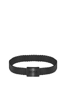 boss-boss-mesh-essentials-black-ip-mesh-bracelet