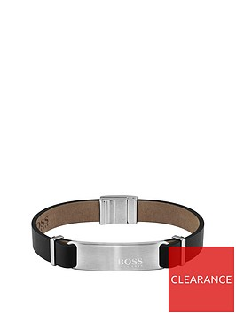boss-boss-urbanite-black-leather-stainless-steel-clasp-bracelet