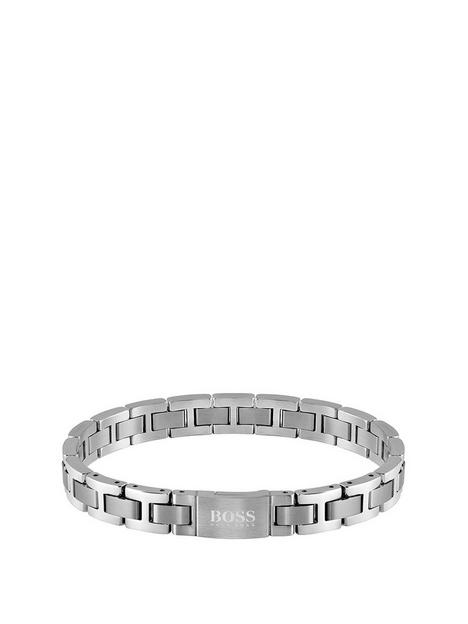 boss-boss-metal-link-essentials-stainless-steel-bracelet