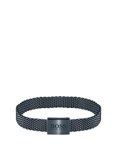 boss-boss-mesh-essentials-blue-ip-mesh-bracelet