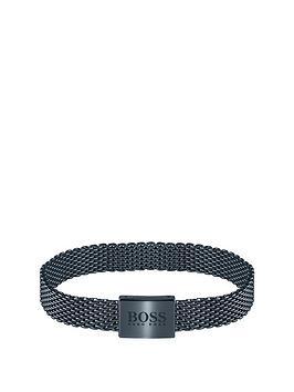 boss-boss-mesh-essentials-blue-ip-mesh-bracelet