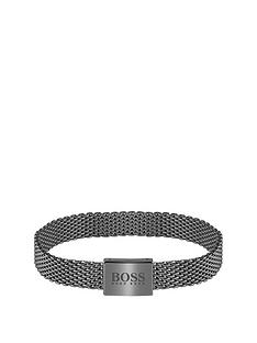 boss-boss-mesh-essentials-grey-ip-mesh-bracelet