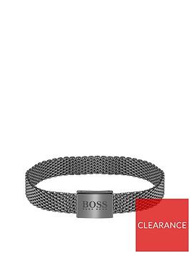 boss-boss-mesh-essentials-grey-ip-mesh-bracelet