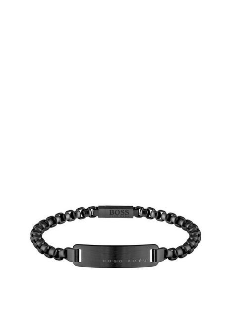 boss-boss-id-black-ip-name-tag-logo-bracelet-with-silicone-edge