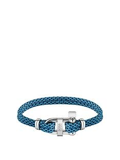 boss-boss-sailing-cord-blue-stainless-steel-d-ring-bracelet