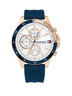 tommy-hilfiger-blue-silicone-strap-white-sunray-dial-mens-watch