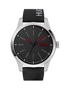 hugo-invent-black-leather-strap-black-dial-mensnbspwatch