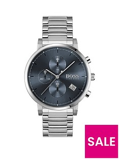 boss-integrity-stainless-steel-bracelet-blue-chronograph-dial-watch