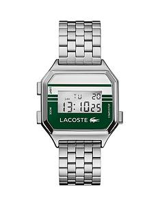 lacoste-berlin-vintage-style-stainless-steel-bracelet-whitegreen-dial-digital-watch