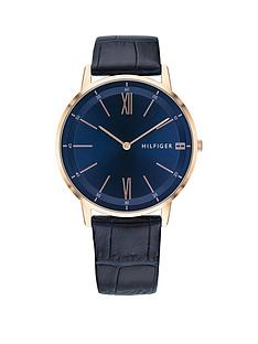 tommy-hilfiger-cooper-black-croc-effect-leather-strap-navy-dial-mens-watch