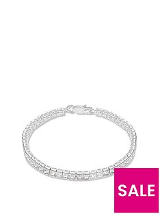 the-love-silver-collection-sterling-silver-suare-cubic-zirconia-tennis-bracelet