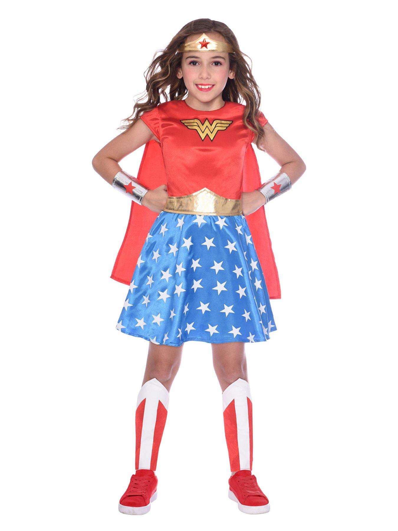 DC Super Hero Girls Kids Dress Up Trunk Clothes Costume Set Party Play Fun