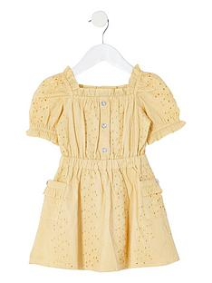river-island-mini-girls-broderie-puff-sleeve-dress-yellow