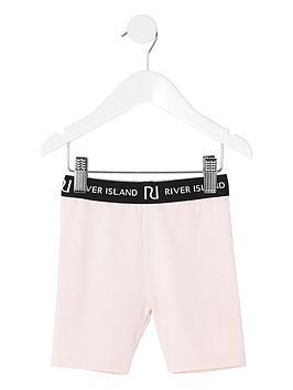 river-island-mini-girlsnbspwaistband-cycling-shorts--nbsppink