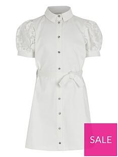 river-island-girls-organza-sleeve-shirt-dress-white