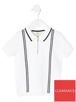 river-island-mini-boys-half-zip-polo-shirtnbsp--white