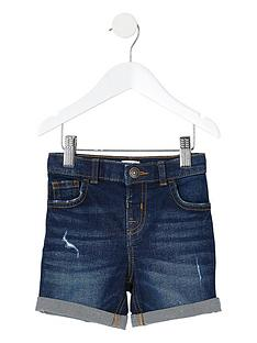 river-island-mini-boys-dylan-slim-fit-denim-shorts--nbspdark-blue