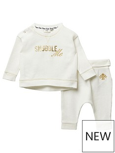 river-island-baby-baby-printed-waffle-tshirt-and-jogpant-set-cream