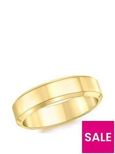 love-gold-9ct-gold-5mm-bevel-edge-band-ring