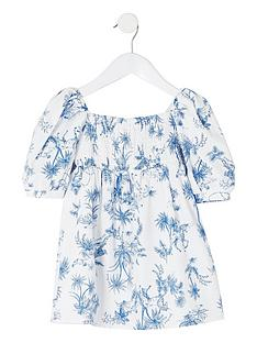 river-island-mini-girls-printed-puff-sleeve-dress-white