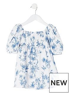 river-island-mini-mini-girls-printed-puff-sleeve-dress-white