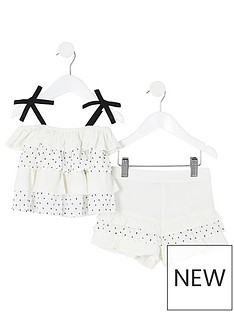 river-island-mini-mini-girls-dot-ruffle-cami-and-short-set-white