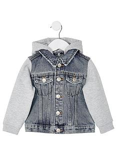 river-island-mini-mini-boys-hooded-denim-jacket-blue