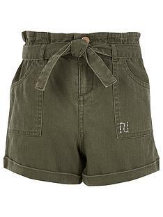 river-island-girls-tie-waist-shorts-khaki