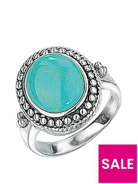 the-love-silver-collection-sterling-silver-turquoise-stone-statement-ring