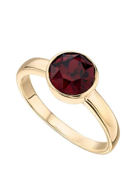 the-love-silver-collection-swarovski-birthstone-gold-plated-silver-ring