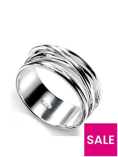 the-love-silver-collection-sterling-silver-crossover-ring