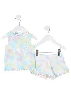 river-island-mini-mini-girls-tie-dye-vest-and-short-set-multi