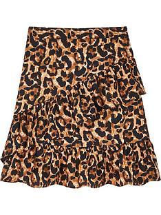 sofie-schnoor-girls-leo-ruffle-skirt-brown