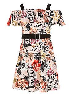 river-island-girls-printed-bardot-belted-dress-pink