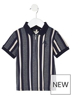 river-island-mini-mini-boys-stripe-half-zip-polo-whitenbsp